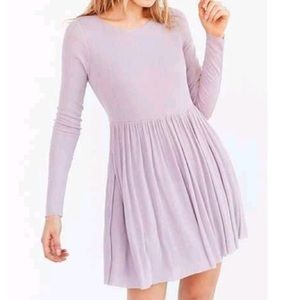 Kimchi Blue Long Sleeve Sweater Dress (purple)